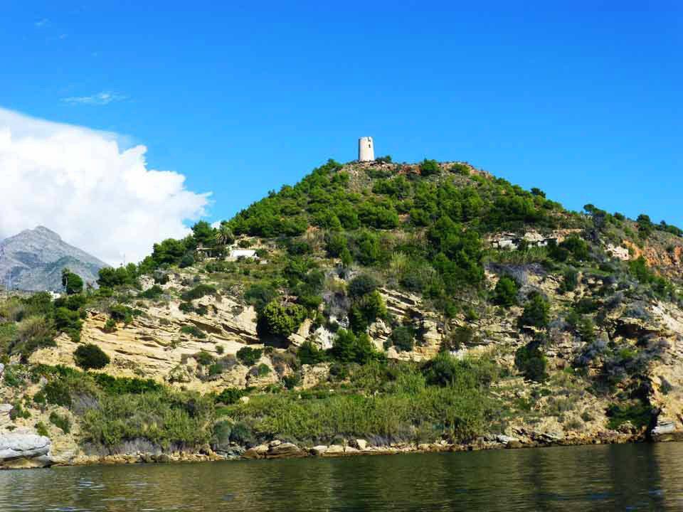 Boat-trips-tours-costa-del-sol-axarquia-torre-del-mar-nerja-maro-costaboattrips-com-watchtower